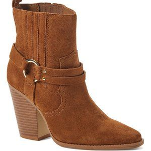 New In Box Aldo Cognac Brends Leather Ankle Boot
